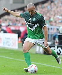02.04.2011, Weserstadion, Bremen, GER, 1.FBL, Werder Bremen vs VfB Stuttgart, im Bild Mikaël Silvestre (Bremen #16)   EXPA Pictures © 2011, PhotoCredit: EXPA/ nph/  Frisch       ****** out of GER / SWE / CRO  / BEL ******