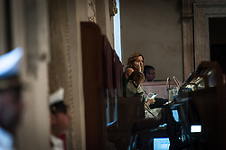 June 14, 2018 - Rome, Italy, Italy - Giorgia Meloni during The session of the Capitoline Assembly ends in advance. After two hours of meeting of the conference of group leaders and a round of opposition speeches, the PD left the hall in protest at the lack of presence of the  mayor of Rome Virginia Raggi on June 14, 2018 in Rome, Italy. (Credit Image: © Andrea Ronchini/NurPhoto via ZUMA Press)