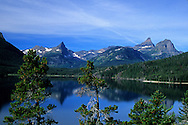 St. Mary Lake from Sun Point in fall. Glacier National Park, Montana
