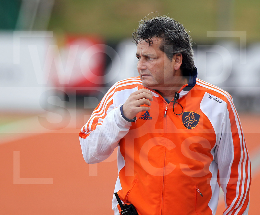 Mens Champions Trophy, Auckland, New Zealand 2011. Day 1 Netherlands v Korea.Paul Van Ass coach of the Netherlands..Photo: Grant Treeby.one off Editorial Use only,( no archiving )......................Photo: Grant Treeby...Editorial use only (No Archiving) Unless previously arranged