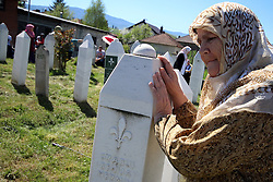 16.04.2016, Ahmici, BIH, 23. Jahrestag des Massaker von Ahmici, im Bild Das Massaker von Ahmici war ein Kriegsverbrechen w&auml;hrend des kroatisch-bosniakischen Krieges innerhalb des Bosnienkriegs. In Ahmici, einem Dorf in der Gemeinde Vitez, wurden am 16. April 1993 ca. 120 bosnische Muslime get&ouml;tet, darunter auch zahlreiche Frauen und Kinder. Das Massaker wurde &uuml;berwiegend von bosnisch-kroatischen Soldaten der HVO, der Armee der kroatischen Republik Herceg-Bosna ver&uuml;bt. // Marking of 23 years of war crimes that are committed by members of the HVO against the Muslim soldiers and civilians. It is the largest slaughter of between Bosnian Croats and Bosnians, which killed 116 people, and the youngest victim was only 3 months. On the same day, an hour later, he started the massacre of Croats in Trusina by members of the Bosnian Army at Ahmici, Bosnia and Herzegovina on 2016/04/16. EXPA Pictures &copy; 2016, PhotoCredit: EXPA/ Pixsell/ Armin Durgut/HaloPix<br /> <br /> *****ATTENTION - for AUT, SLO, SUI, SWE, ITA, FRA only*****