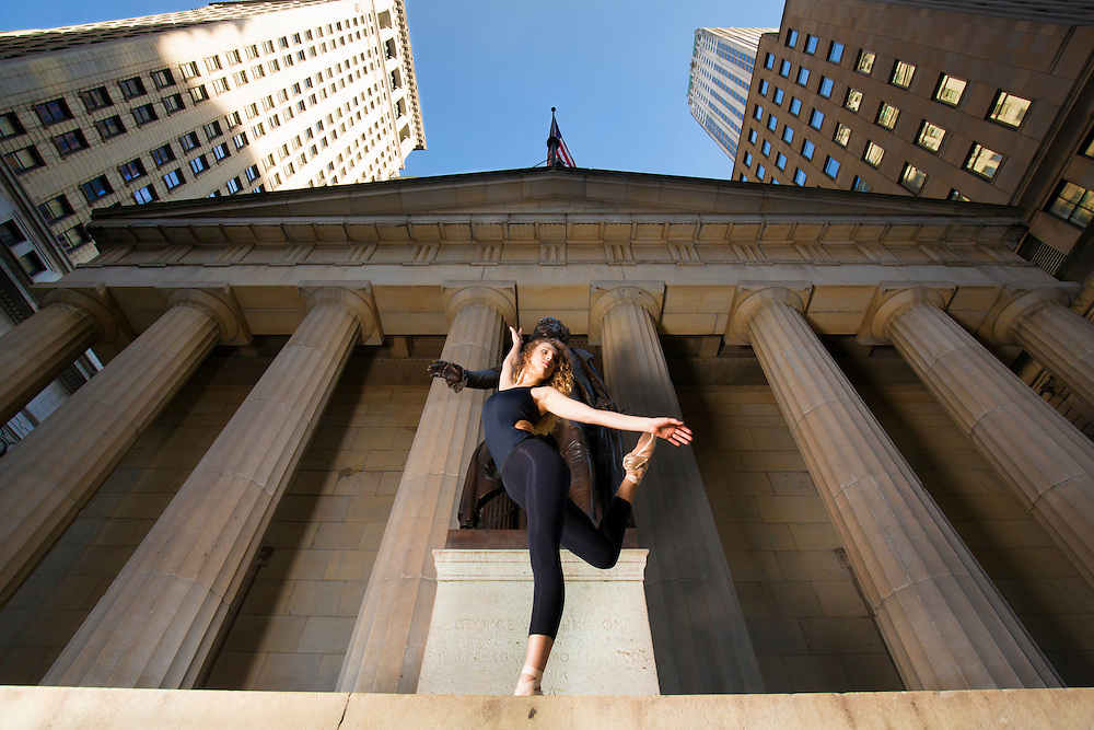 Federal Hall Ballerina Dance As Art New York City Photography featuring Manon Hallay