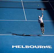 ANDY MURRAY (GBR), Licht und Schatten,<br /> <br /> Australian Open 2017 -  Melbourne  Park - Melbourne - Victoria - Australia  - 22/01/2017.