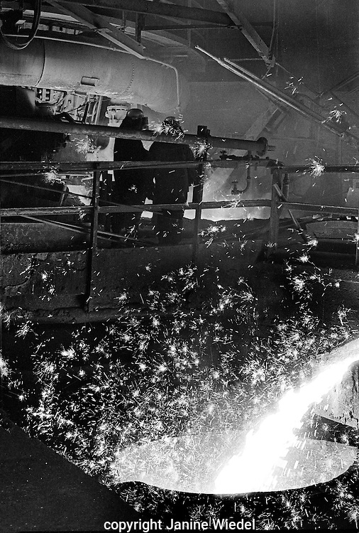 Blast furnace at Shelton Bar Iron and Steel Works  in Stoke on Trent in the 1978 just before it was closed down with loss of 2,500 jobs