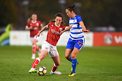 Chloe Arthur of Bristol City Women in action against Josanne Potter of Reading Women - Mandatory by-line: Paul Knight/JMP - 28/10/2017 - FOOTBALL - Stoke Gifford Stadium - Bristol, England - Bristol City Women v Reading Women - FA Women's Super League