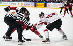 Ryan O Reilly of Canada vs Tanner Richard of Switzerland during the 2017 IIHF Men's World Championship group B Ice hockey match between National Teams of Canada and Switzerland, on May 13, 2017 in AccorHotels Arena in Paris, France. Photo by Vid Ponikvar / Sportida