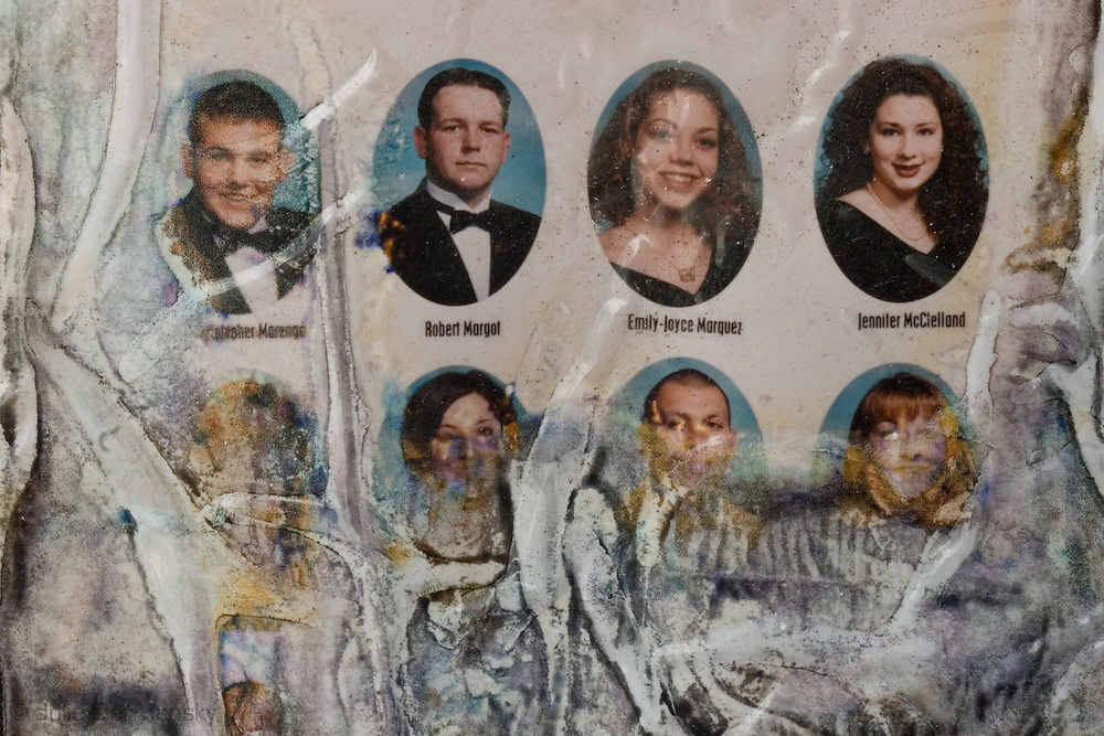 May 22 2007, Destroyed highschool yearbook found in a home destroyed by Hurricane Katrina in Arabi, LA