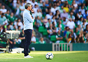 SEVILLE, SPAIN - SEPTEMBER 16:  Head Coach of Real Betis Balompie Quique Setien looks on during the La Liga match between Real Betis and Deportivo La Coruna  at Estadio Benito Villamarin on September 16, 2017 in Seville, .  (Photo by Aitor Alcalde Colomer/Getty Images)