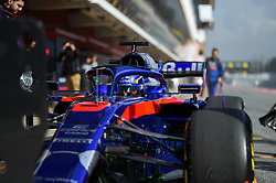 February 19, 2019 - Barcelona, Spain - Thai driver Alexander Albon of Italian team Red Bull Toro Rosso Honda driving his single-seater STR14 during Barcelona winter test in Catalunya Circuit in Montmel?, Spain, on February 19, 2019. (Credit Image: © Andrea Diodato/NurPhoto via ZUMA Press)