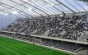 Side View of Forsyth barr Stadium,  A-League football pre season match - Wellington Phoenix v Brisbane Roar at Forsyth Barr Stadium, Dunedin, New Zealand on Saturday, 20 August 2011. Photo: Richard Hood/photosport.co.nz