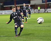 Lee Cameron scores from the penalty spot - Dundee v Aberdeen, SPFL development league<br />