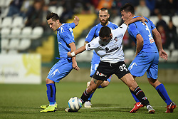 November 3, 2018 - Vercelli, Italy - Italian strick Claudio Morra from Pro Vercelli team playing during Saturday evening's match against Novara Calcio valid for the 10th day of the Italian Lega Pro championship  (Credit Image: © Andrea Diodato/NurPhoto via ZUMA Press)