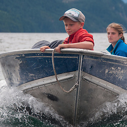 Curran and Eliza, Ross Lake National Recreation Area, North Cascades National Park, US