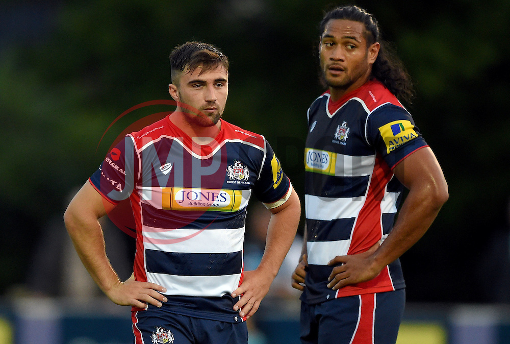 Jordan Williams of Bristol United and Thretton Palamo of Bristol United  - Mandatory by-line: Joe Meredith/JMP - 12/09/2016 - RUGBY - Clifton RFC - Bristol, England - Bristol United v Harlequins A - Aviva A League