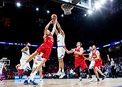 Semen Antonov of Russia vs Ioannis Bourousis of Greece during basketball match between National Teams of Greece and Russia at Day 14 in Round of 16 of the FIBA EuroBasket 2017 at Sinan Erdem Dome in Istanbul, Turkey on September 13, 2017. Photo by Vid Ponikvar / Sportida