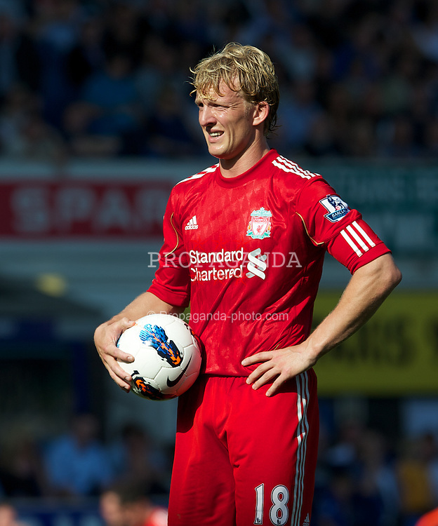 LIVERPOOL, ENGLAND - Saturday, October 1, 2011: Liverpool's Dirk Kuyt prepares to take a penalty, which his misses, against Everton during the Premiership match at Goodison Park. (Pic by David Rawcliffe/Propaganda)
