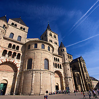 Started in 313 from a donation by Helena, the mother of the Roman Emperor Constantine, Trier Cathedral has been rebuilt and expanded significantly from its Roman origins and is said to contain the holy robe - the Tunic of Christ.
