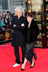 Brian May & Anita Dobson at the Olivier Awards 2012 at the Royal Opera House in London, 15 th April 2012 Photo by: Chris Joseph / i-Images