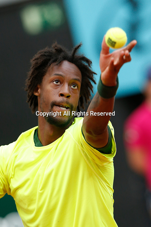 06.05.2015. Madrid, Spain, Madrid Open Tennis Tournament. Match played between Gael MONFILS (FRA) and Marcel GRANOLLERS (ESP)   Gael MONFILS during match from La Caja Magica.