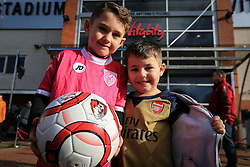 Bournemouth and Arsenal fans outside Vitality stadium - Mandatory by-line: Jason Brown/JMP - Mobile 07966 386802 07/02/2016 - SPORT - FOOTBALL - Bournemouth, Vitality Stadium - AFC Bournemouth v Arsenal - Barclays Premier League