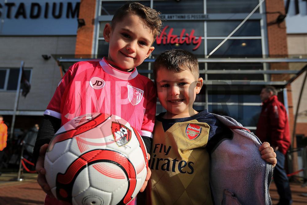 Bournemouth and Arsenal fans outside Vitality stadium - Mandatory by-line: Jason Brown/JMP - Mobile 07966 386802 07/02/2016 - SPORT - FOOTBALL - Bournemouth, Vitality Stadium - AFC Bournemouth v Arsenal - Barclays Premier League