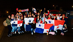 CARDIFF, WALES - Tuesday, November 14, 2017: Panama supporters beforer the international friendly match between Wales and Panama at the Cardiff City Stadium. (Pic by Peter Powell/Propaganda)