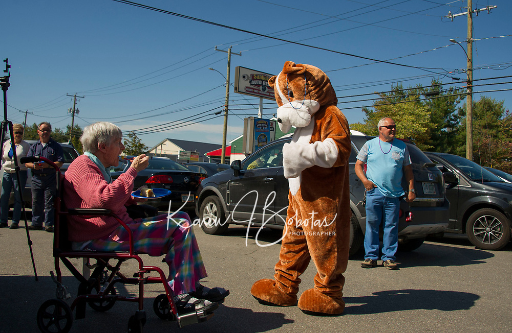 Lucky Jr's birthday party at Sanborn's Garage in Laconia.  Karen Bobotas for the Laconia Daily Sun
