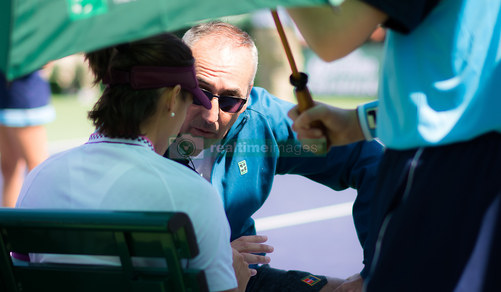 March 8, 2019 - Indian Wells, USA - Louis-Paul Garcia in action during her second-round match at the 2019 BNP Paribas Open WTA Premier Mandatory tennis tournament (Credit Image: © AFP7 via ZUMA Wire)