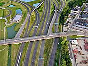 Nederland, Zuid-Holland, Rotterdam, 14-09-2019; Haven Rotterdam met stadsdeel Pernis. Knooppunt Benelux, A15 en A4 (links boven het midden) onderdeel Ruit van Rotterdam. <br /> Port of Rotterdam with the Pernis district. Benelux junction, motorway A4 and A5.  Rotterdam ringroad.<br /> <br /> luchtfoto (toeslag op standard tarieven);<br /> aerial photo (additional fee required);<br /> copyright foto/photo Siebe Swart