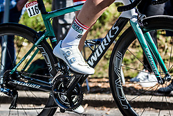 Gregor MÜHLBERGER of BORA - hansgrohe on his S-Works bike during the 2nd of 3 climbs with 29 km to go at Mur de Huy of the 2018 La Flèche Wallonne race, Huy, Belgium, 18 April 2018, Photo by Pim Nijland / PelotonPhotos.com | All photos usage must carry mandatory copyright credit (Peloton Photos | Pim Nijland)