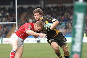 Wycombe, GREAT BRITAIN, Dominic WALDOUCK with the high ball, during the Heineken Cup game Wasps vs Llanelli Scarlets, at Adams Park Stadium, Bucks, 13.01.2008 [Photo, Peter Spurrier/Intersport-images]