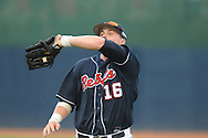 Mississippi's Matt Smith (16) catches a fly ball to end the third inning during an NCAA Regional game at Davenport Field in Charlottesville, Va. on Saturday, June 5, 2010.