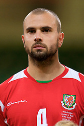 CARDIFF, WALES - Friday, September 5, 2008: Wales' Carl Fletcher before the opening 2010 FIFA World Cup South Africa Qualifying Group 4 match against Azerbaijan at the Millennium Stadium. (Photo by David Rawcliffe/Propaganda)