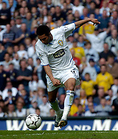 Photo. Glyn Thomas.<br /> Digitalsport<br /> NORWAY ONLY<br /> <br /> Leeds United v Charlton Athletic. <br /> FA Barclaycard Premiership. 08/05/2004.<br /> Leeds' Jermaine Pennant puts his side into a 2-1 lead shortly before half time.