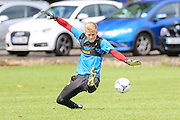 Forest green Rovers trialist goalkeeper, Matt Hall during the Forest Green Rovers Training at the Cirencester Agricultural College, Cirencester, United Kingdom on 12 July 2016. Photo by Shane Healey.