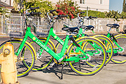 Fleet of Limebikes Dockless Bike Sharing