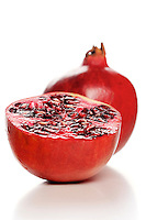Studio shot of pomegranate fruit