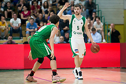 Paolo Marinelli of KK Krka during basketball match between KK Krka Novo mesto and  KK Petrol Olimpija in 2nd Final game of Liga Nova KBM za prvaka 2017/18, on May 22, 2018 in Sports hall Leona Stuklja, Novo mesto, Slovenia. Photo by Urban Urbanc / Sportida