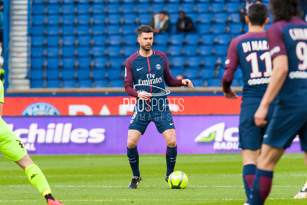 Thiago Motta (psg) during the French Championship Ligue 1 football match between Paris Saint-Germain and SCO Angers on march 14, 2018 at Parc des Princes stadium in Paris, France - Photo Pierre Charlier / ProSportsImages / DPPI