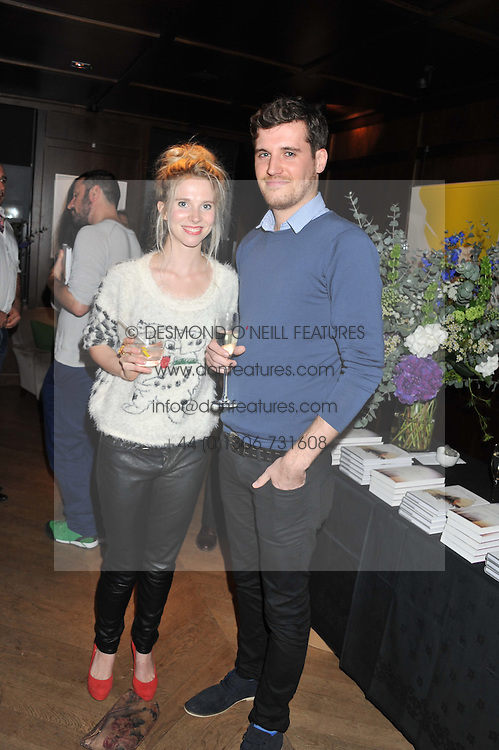 SADIE PICKERING and GAVIN BOWER at the launch of Voice of An Angel - a book by Karen Ruimy held at The Groucho Club, Dean Street, London on 17th October 2012.