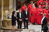 Photo by Lisa Johnston.Archdiocese of St. Louis Combined Choirs Christmas Concert at the Cathedral Basilica
