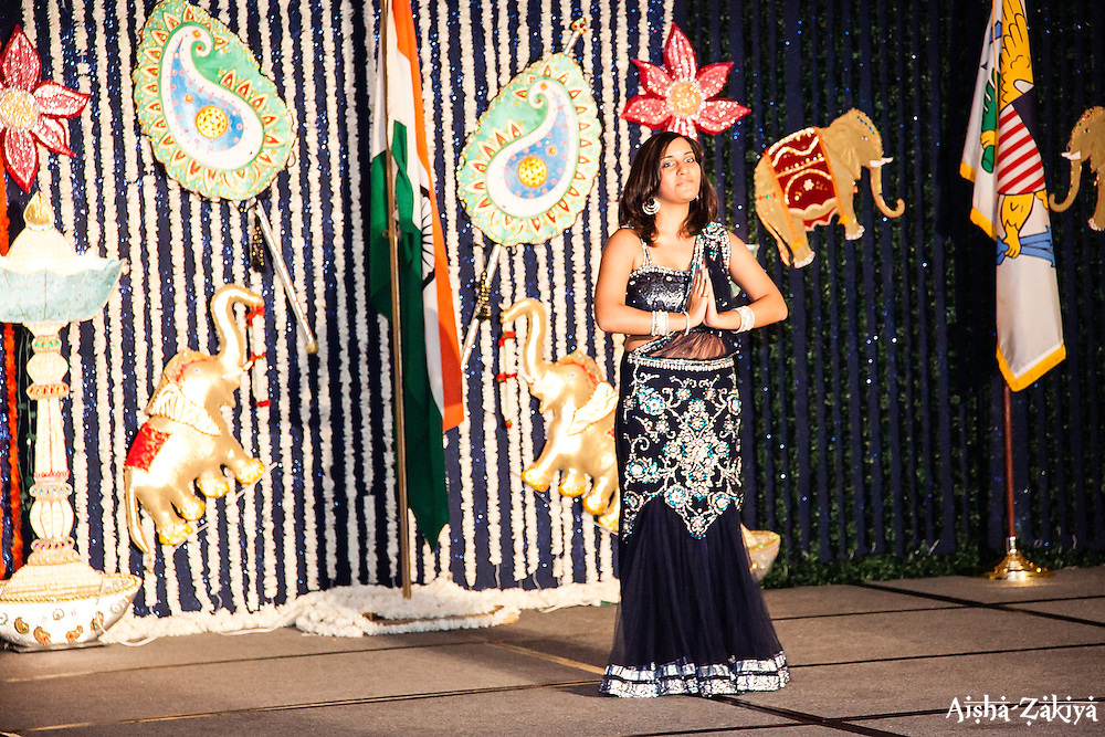 Ms. Reema Punjabi gives a cultural presentation.  The India Association of the Virgin Islands 66th Independence Day Celebration. Friday September 7, 2012. Marriott's Frenchman's Reef Resort.  © Aisha-Zakiya Boyd