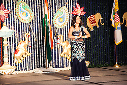 Ms. Reema Punjabi gives a cultural presentation.  The India Association of the Virgin Islands 66th Independence Day Celebration. Friday September 7, 2012. Marriott's Frenchman's Reef Resort.  © Aisha-Zakiya Boyd