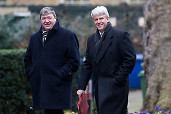 © Licensed to London News Pictures. 07/01/2013. London, UK. Leader of the Commons Andrew Lansley (R) is seen on Downing Street in London today (07/01/13) before the first cabinet meeting of 2013. Photo credit: Matt Cetti-Roberts/LNP