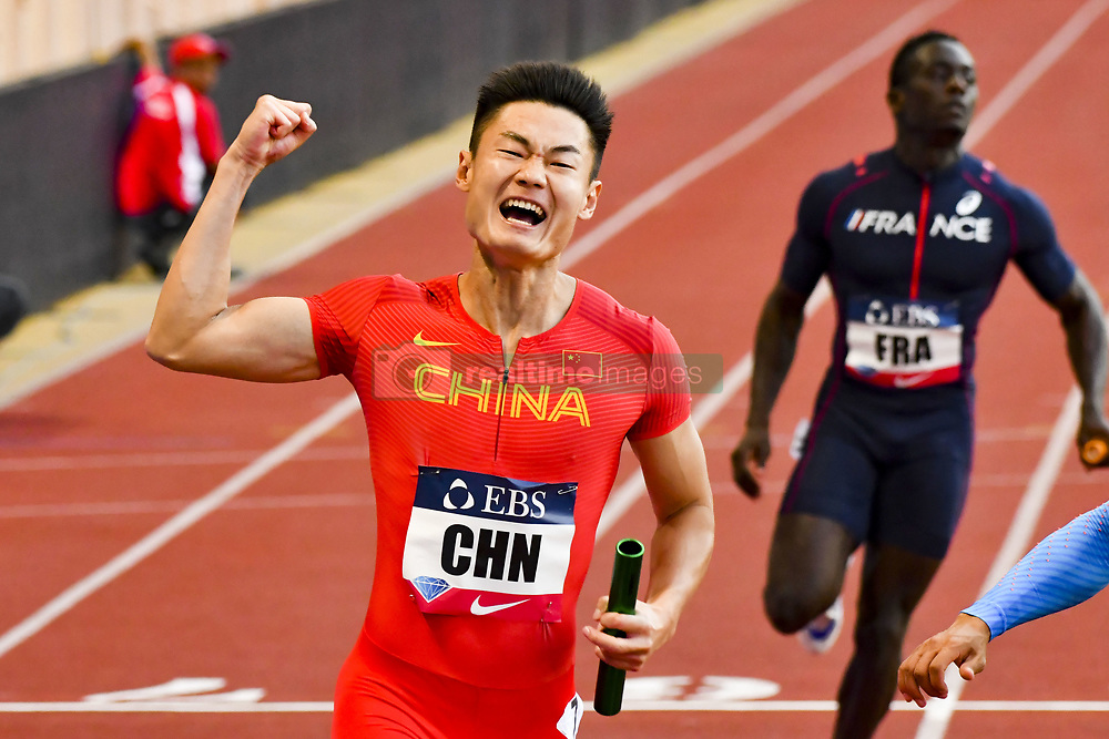 July 21, 2017 - France - Equipe de Chine - Relay 4 x 100 m hommes (Credit Image: © Panoramic via ZUMA Press)