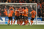 30th August 2019; Dens Park, Dundee, Scotland; Scottish Championship, Dundee Football Club versus Dundee United; Louis Appere of Dundee United is congratulated after scoring for 2-1