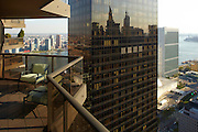 View of the East River and Long Island City from 100 UN Plaza, 50th floor