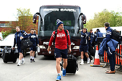 Ian Madigan and the rest of the Bristol Bears team arrive at Welford Road - Mandatory byline: Patrick Khachfe/JMP - 07966 386802 - 27/04/2019 - RUGBY UNION - Welford Road - Leicester, England - Leicester Tigers v Bristol Bears - Gallagher Premiership Rugby