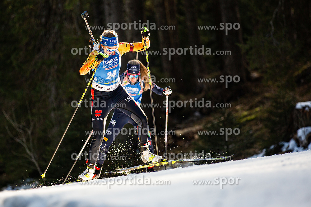 Franziska Preuss (GER) during the Women 15 km Individual Competition at day 2 of IBU Biathlon World Cup 2019/20 Pokljuka, on January 23, 2020 in Rudno polje, Pokljuka, Pokljuka, Slovenia. Photo by Peter Podobnik / Sportida