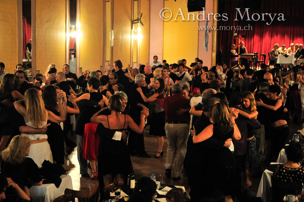 Tango Dancers in the Milonga Niño Bien, Buenos Aires, Argentina Image by Andres Morya